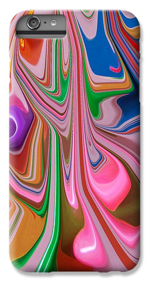 Abstract IPhone 6s Plus Case featuring the photograph Candy Melt by Florene Welebny