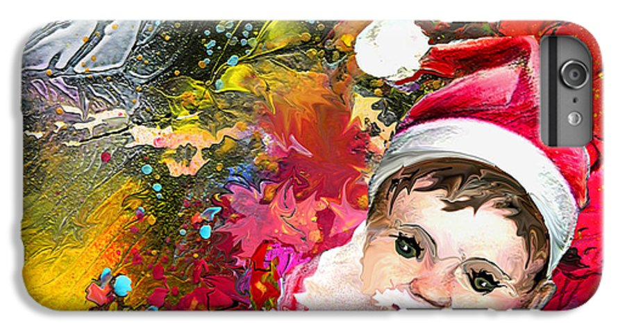 Santa Baby Painting IPhone 6s Plus Case featuring the painting Cant Stop Now by Miki De Goodaboom