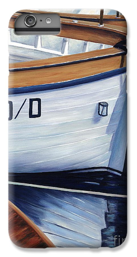 Nautical IPhone 6s Plus Case featuring the painting Capri Boats by Danielle Perry