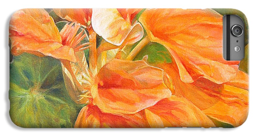 Floral Painting IPhone 6s Plus Case featuring the painting Capucine by Muriel Dolemieux