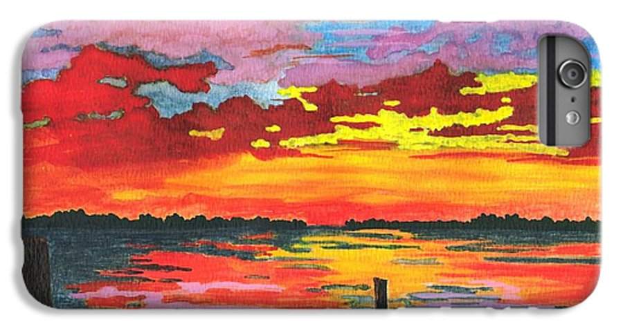 Original Painting IPhone 6s Plus Case featuring the painting Carolina Sunset by Patricia Griffin Brett