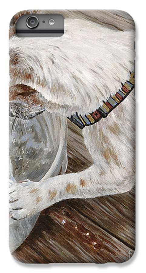 Pet Portrait IPhone 6s Plus Case featuring the painting Catch Of The Day by Danielle Perry