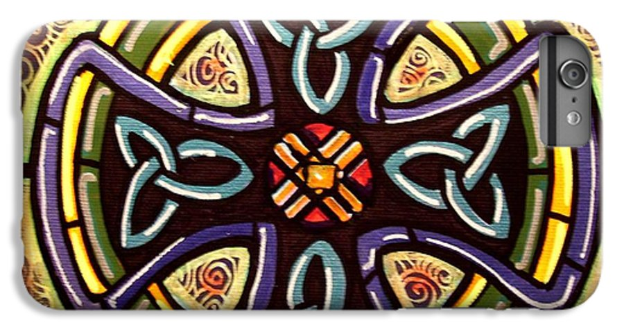 Celtic IPhone 6s Plus Case featuring the painting Celtic Cross 2 by Jim Harris