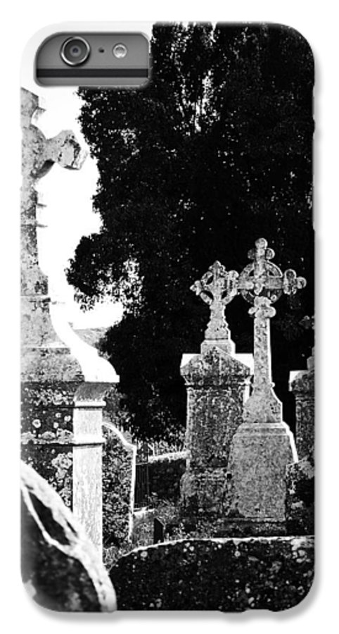 Celtic IPhone 6s Plus Case featuring the photograph Celtic Crosses At Fuerty Cemetery Roscommon Ireland by Teresa Mucha