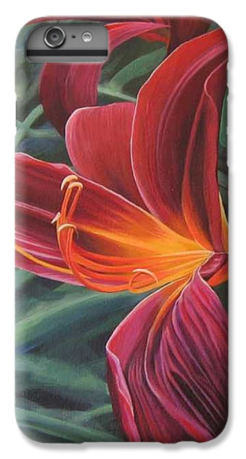 Lily Near Cheesman Park IPhone 6s Plus Case featuring the painting Chase The Sun by Hunter Jay
