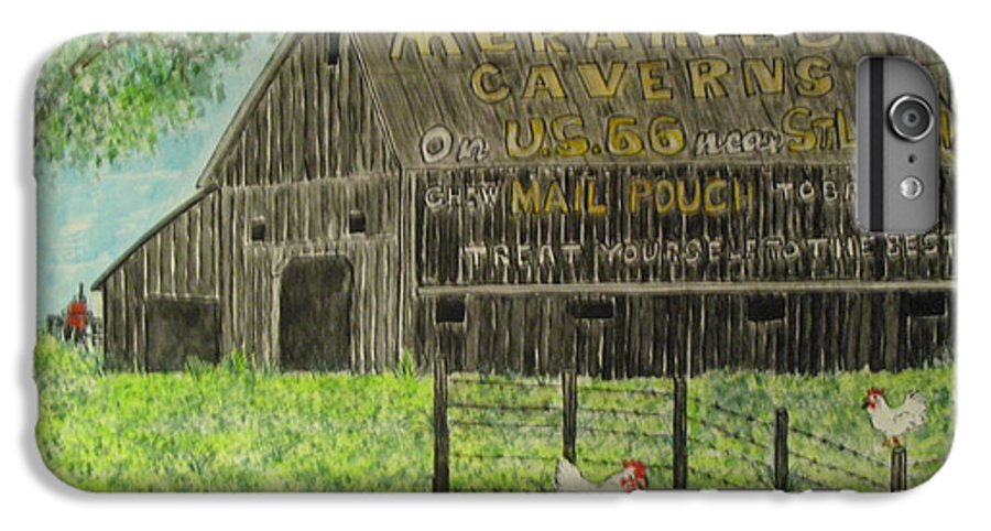 Chew Mail Pouch IPhone 6s Plus Case featuring the painting Chew Mail Pouch Barn by Kathy Marrs Chandler
