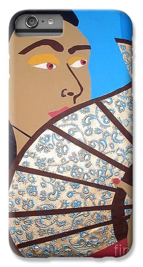 Chinese IPhone 6s Plus Case featuring the mixed media Chinese Fan by Debra Bretton Robinson