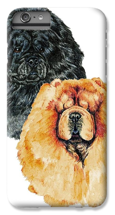 Chow Chow IPhone 6s Plus Case featuring the painting Chow Chows by Kathleen Sepulveda