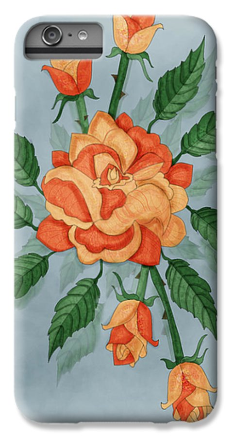 Floral IPhone 6s Plus Case featuring the painting Christ And The Disciples Roses by Anne Norskog