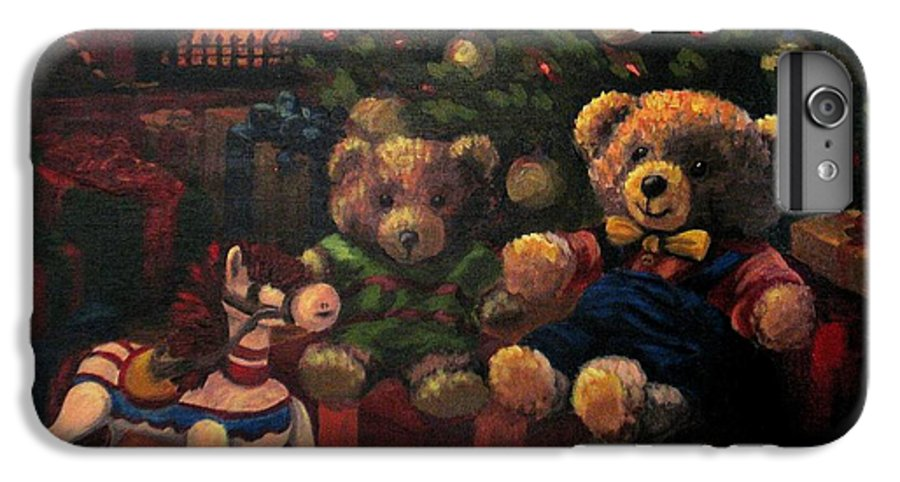 Christmas IPhone 6s Plus Case featuring the painting Christmas Past by Karen Ilari