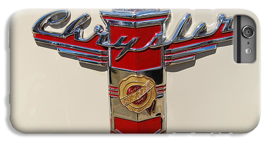 Automobile IPhone 6s Plus Case featuring the photograph Chrysler Hood Logo by Larry Keahey