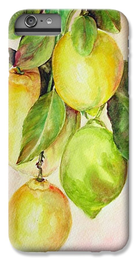 Still Life IPhone 6s Plus Case featuring the painting Citrons by Muriel Dolemieux