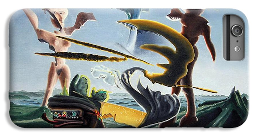 Landscape IPhone 6s Plus Case featuring the painting Civilization Found Intact by Dave Martsolf