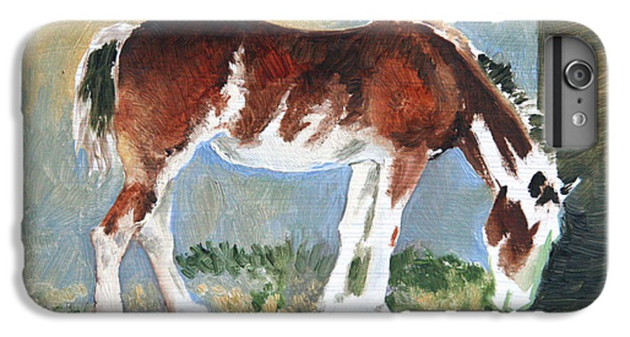 Horse IPhone 6s Plus Case featuring the painting Clydesdale Colt Pad by Eileen Hale