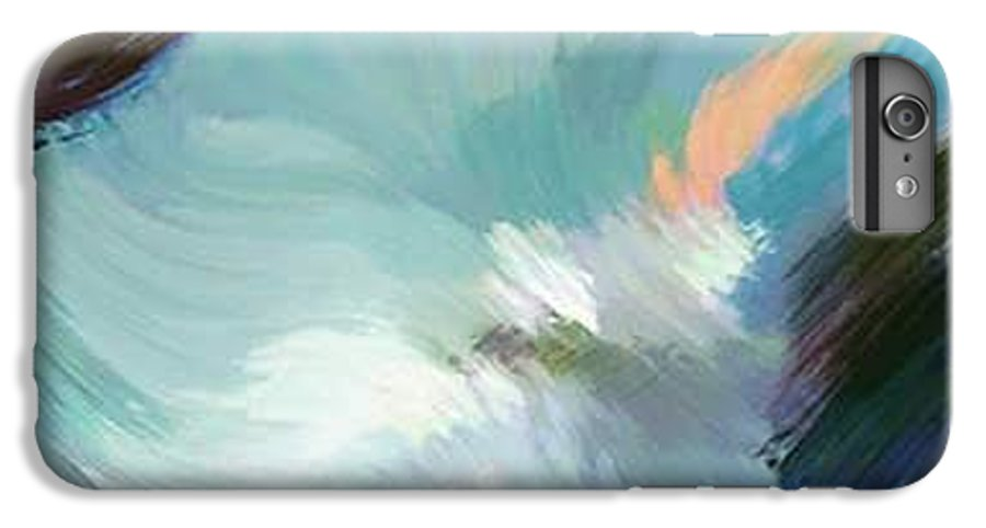 Landscape Digital Art IPhone 6s Plus Case featuring the digital art Color Falls by Anil Nene