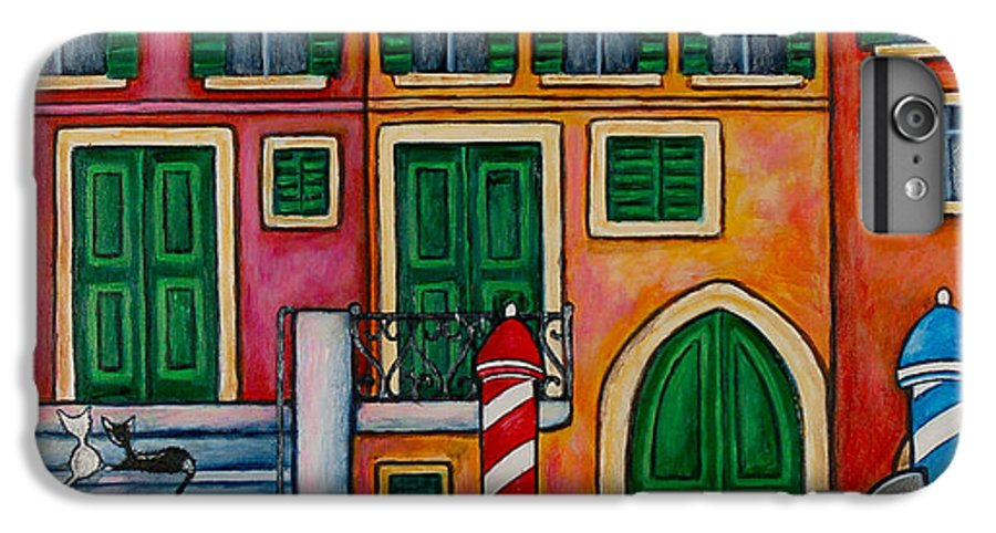 Venice IPhone 6s Plus Case featuring the painting Colours Of Venice by Lisa Lorenz