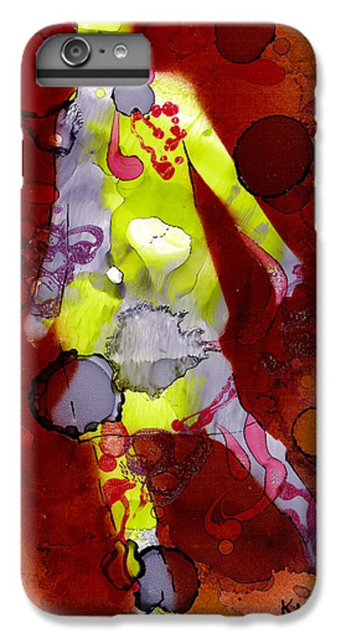 Woman Girl Female Impressionist Empowerment IPhone 6s Plus Case featuring the mixed media Coming Of Age by Susan Kubes