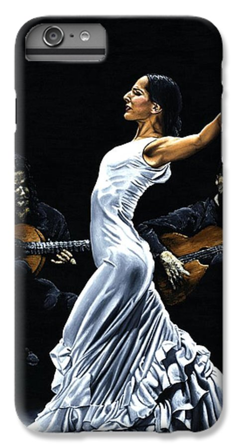 Flamenco IPhone 6s Plus Case featuring the painting Concentracion Del Funcionamiento Del Flamenco by Richard Young
