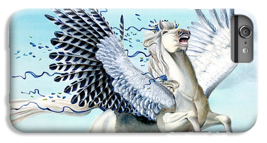 Artwork IPhone 6s Plus Case featuring the painting Cory Pegasus by Melissa A Benson