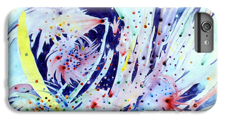 Abstract IPhone 6s Plus Case featuring the painting Cosmic Candy by Steve Karol