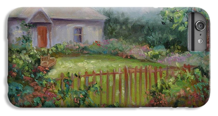 Cottswold IPhone 6s Plus Case featuring the painting Cottswold Cottage by Ginger Concepcion