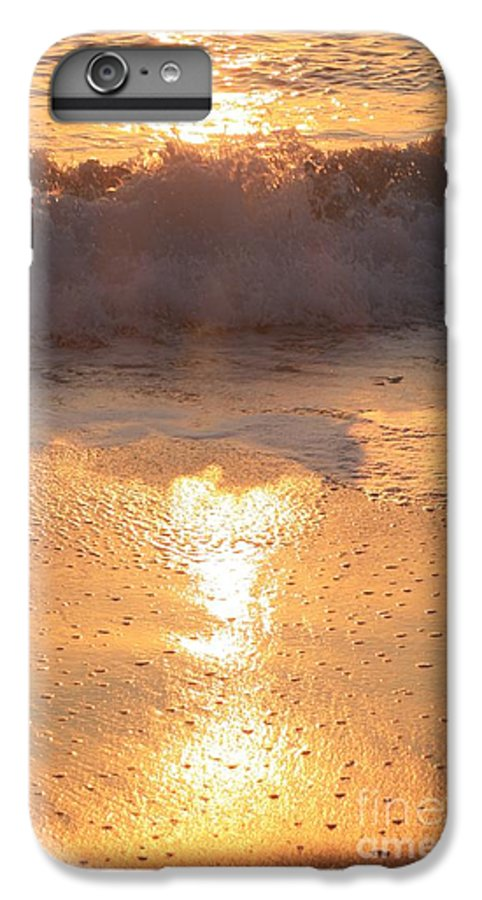 Waves IPhone 6s Plus Case featuring the photograph Crashing Wave At Sunrise by Nadine Rippelmeyer