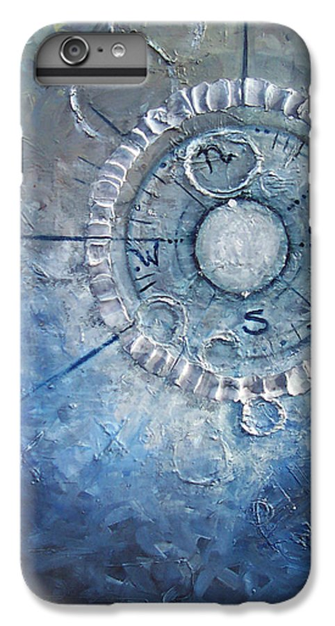 Contemporary IPhone 6s Plus Case featuring the painting Creation by Laura Sherrill