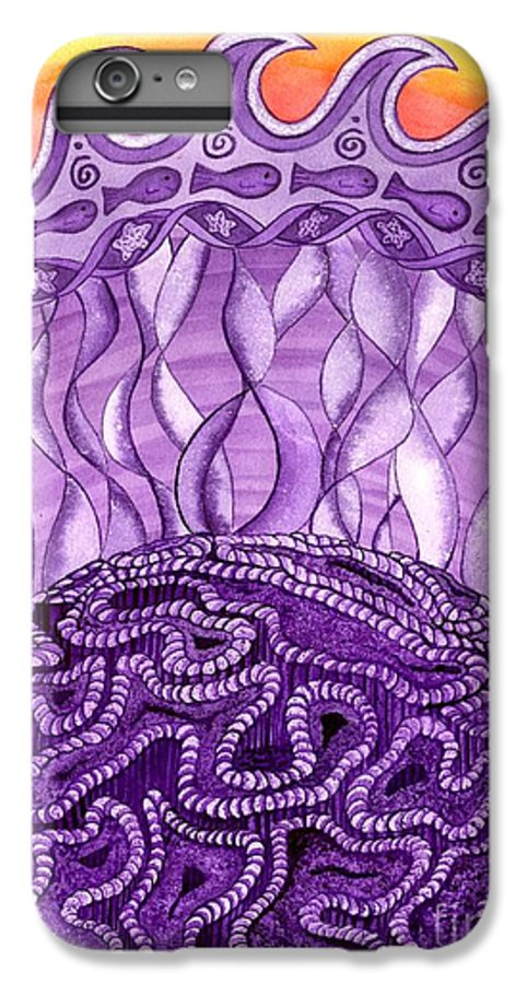Chakra IPhone 6s Plus Case featuring the painting Crown Chakra by Catherine G McElroy