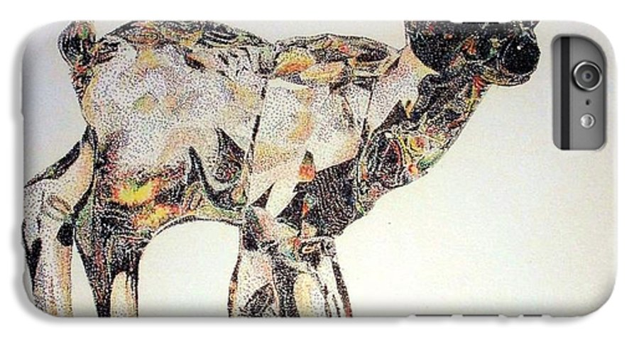 Deer Fawn Crystal Figurine Swarovsky IPhone 6s Plus Case featuring the painting Crystal by Tony Ruggiero
