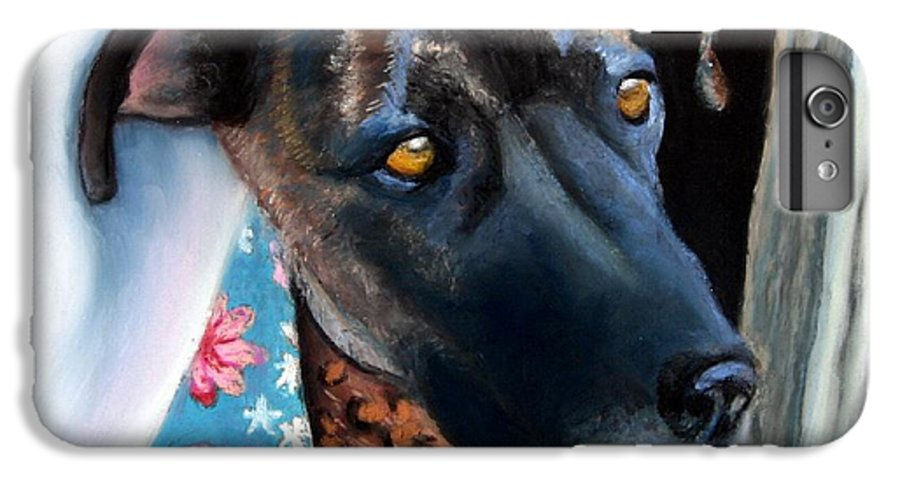Great Dane IPhone 6s Plus Case featuring the painting Whats Going On? by Minaz Jantz