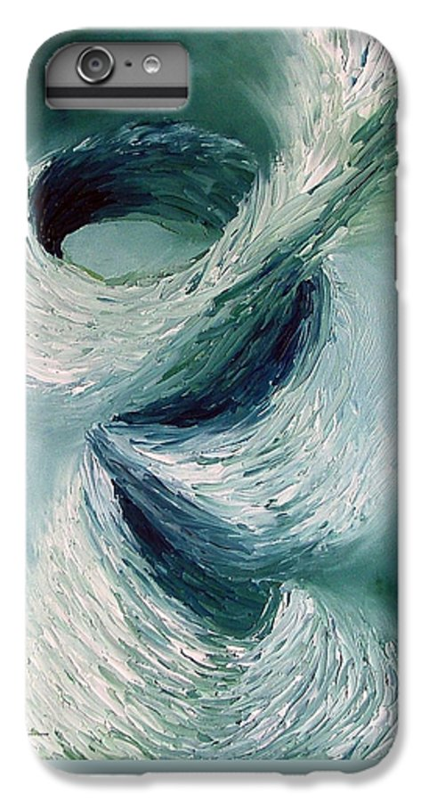 Tornado IPhone 6s Plus Case featuring the painting Cyclone by Elizabeth Lisy Figueroa