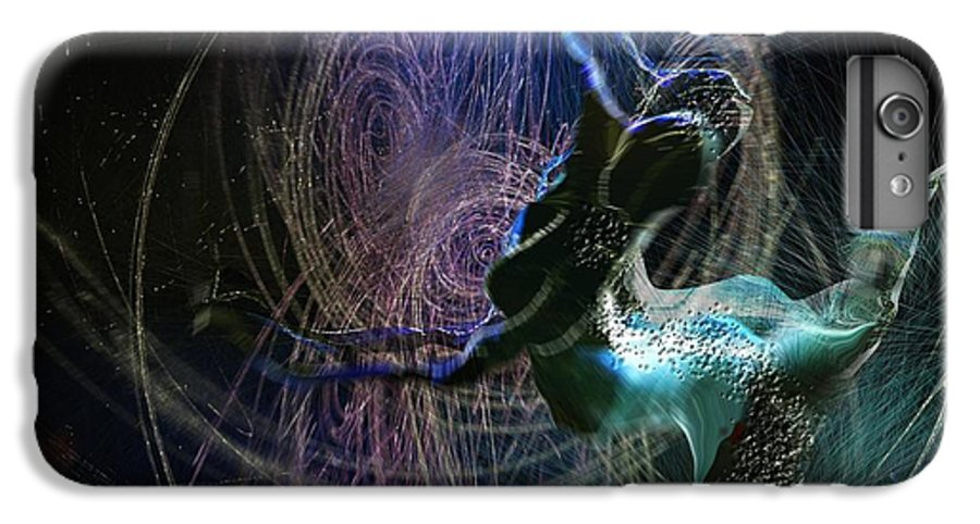 Nature Painting IPhone 6s Plus Case featuring the painting Dance Of The Universe by Miki De Goodaboom