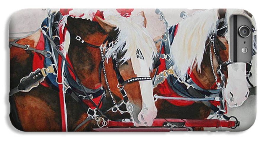 Horse IPhone 6s Plus Case featuring the painting Dandy Duo by Jean Blackmer