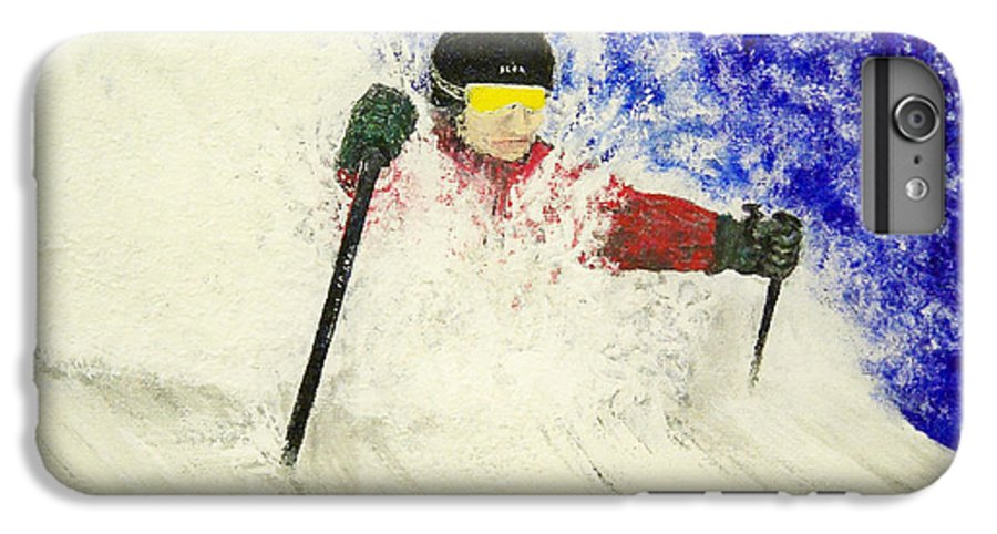 Utah IPhone 6s Plus Case featuring the painting Deeeep by Michael Cuozzo