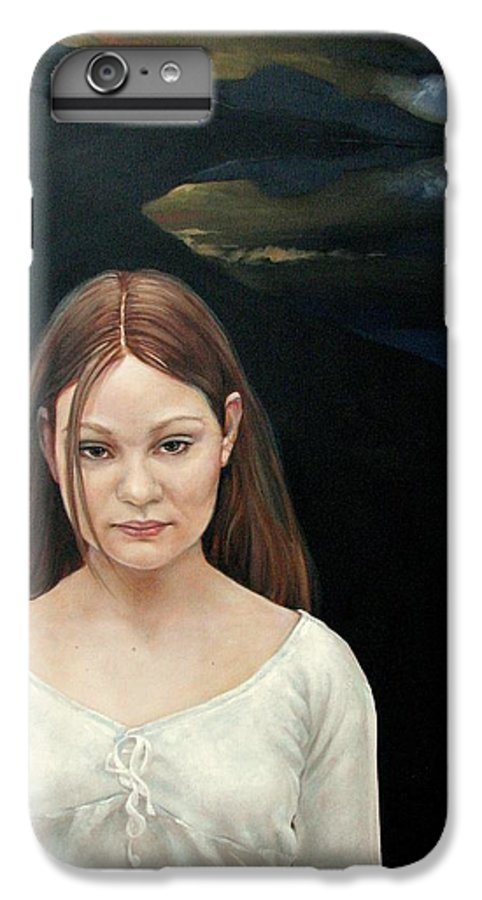 Facial Expressioin IPhone 6s Plus Case featuring the painting Defiant Girl 2004 by Jerrold Carton