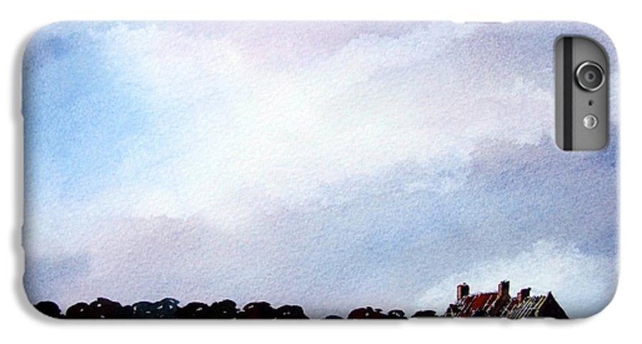 Watercolour IPhone 6s Plus Case featuring the painting Derelict Farmhouse Near Malton by Paul Dene Marlor
