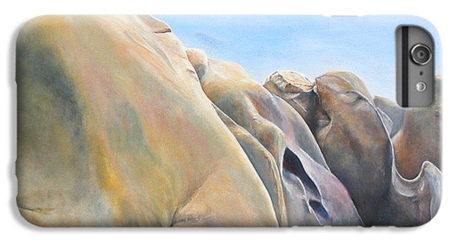 Landscape IPhone 6s Plus Case featuring the painting Desert by Muriel Dolemieux