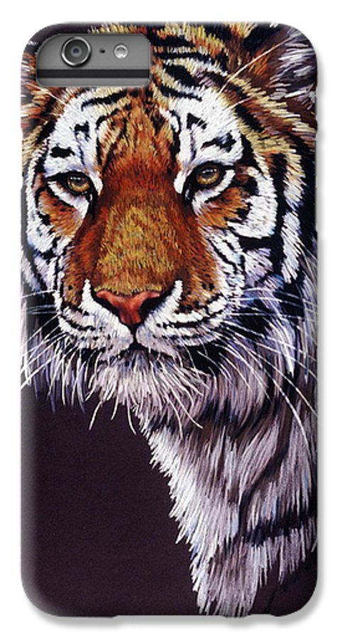 Tiger IPhone 6s Plus Case featuring the drawing Desperado by Barbara Keith