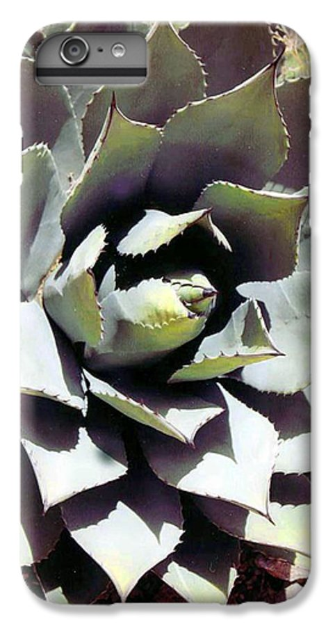 Flower IPhone 6s Plus Case featuring the photograph Dessert Agave by Margaret Fortunato