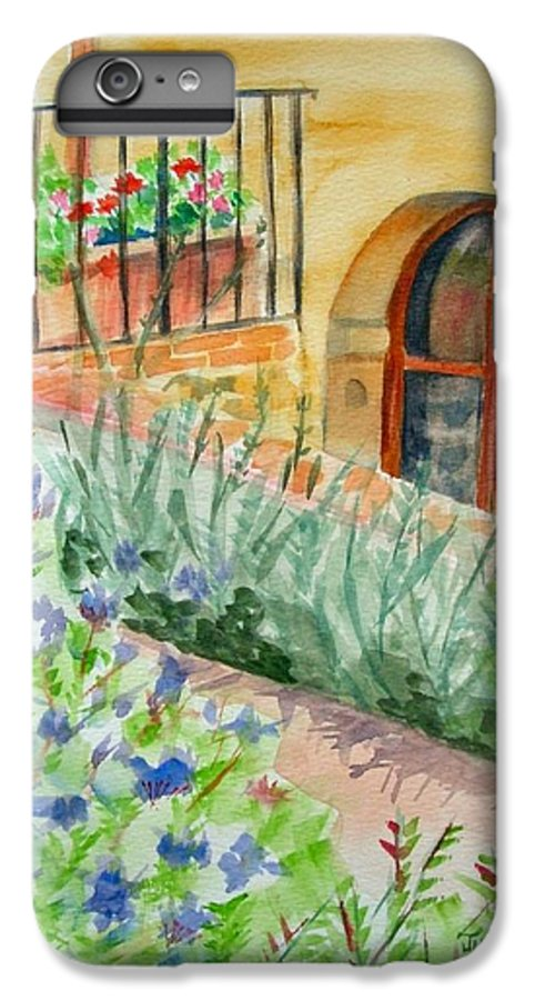 Flowers Surrounding Apartment On Vineyard IPhone 6s Plus Case featuring the painting Dievole Vineyard by Judy Swerlick