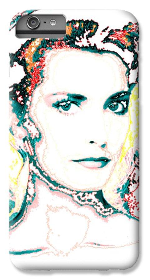 Digital IPhone 6s Plus Case featuring the digital art Digital Self Portrait by Kathleen Sepulveda