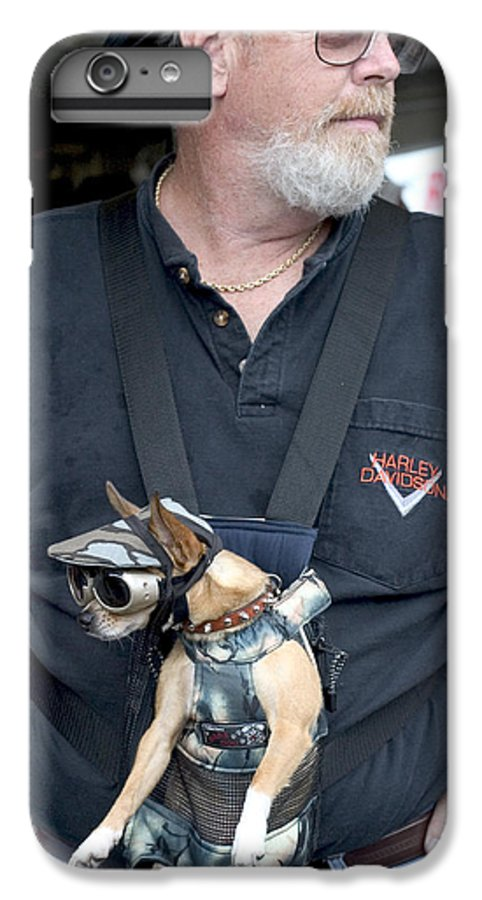 Cute IPhone 6s Plus Case featuring the photograph Doggie Biker by Carl Purcell