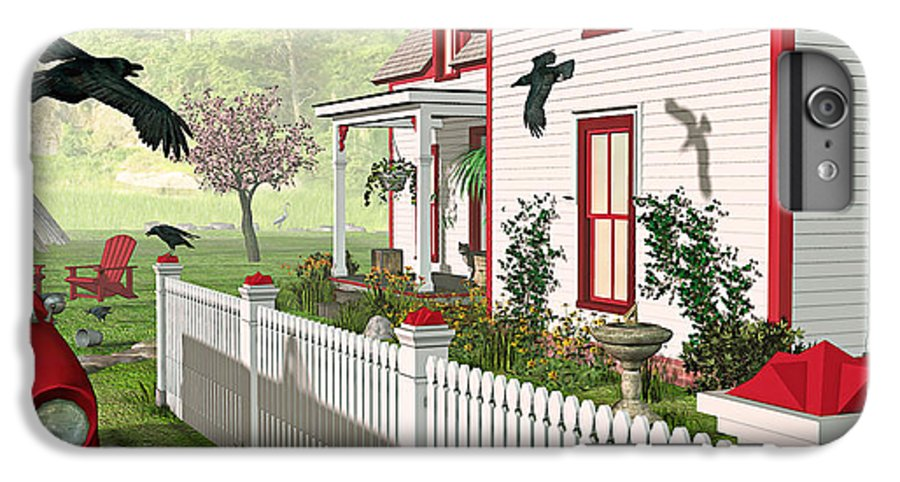 Victorian House IPhone 6s Plus Case featuring the photograph Downeast Morning by Peter J Sucy