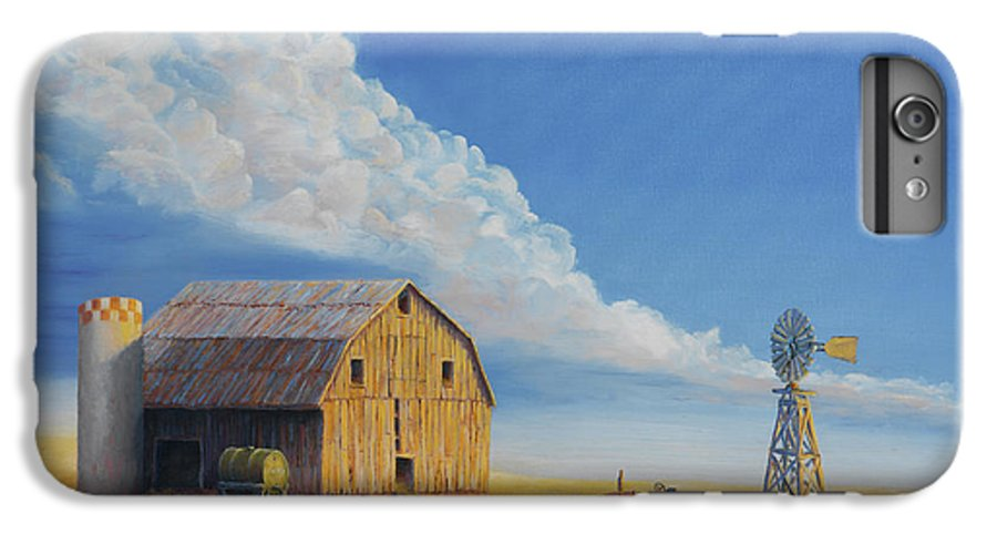 Barn IPhone 6s Plus Case featuring the painting Downtown Wyoming by Jerry McElroy
