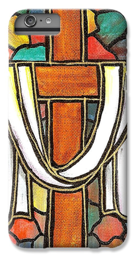 Easter IPhone 6s Plus Case featuring the painting Easter Cross 6 by Jim Harris