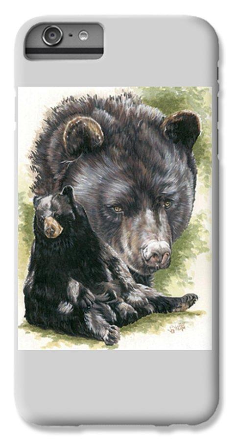 Black Bear IPhone 6s Plus Case featuring the mixed media Ebony by Barbara Keith
