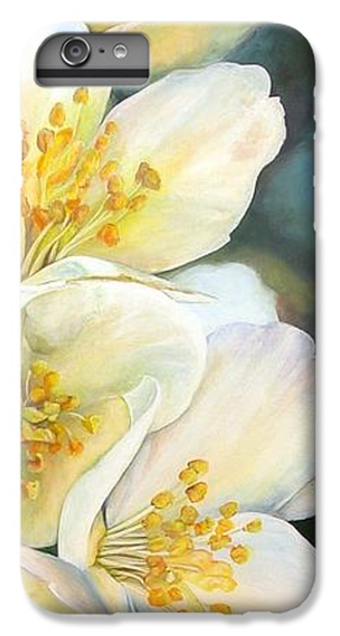 Floral Painting IPhone 6s Plus Case featuring the painting Eglantine by Muriel Dolemieux