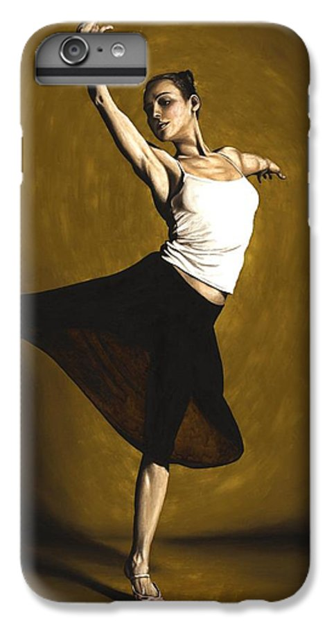 Elegant IPhone 6s Plus Case featuring the painting Elegant Dancer by Richard Young