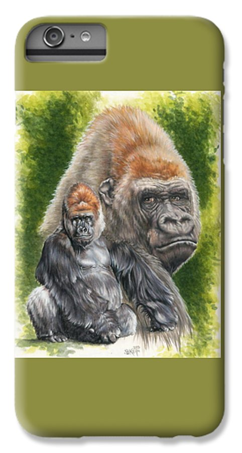 Gorilla IPhone 6s Plus Case featuring the mixed media Eloquent by Barbara Keith