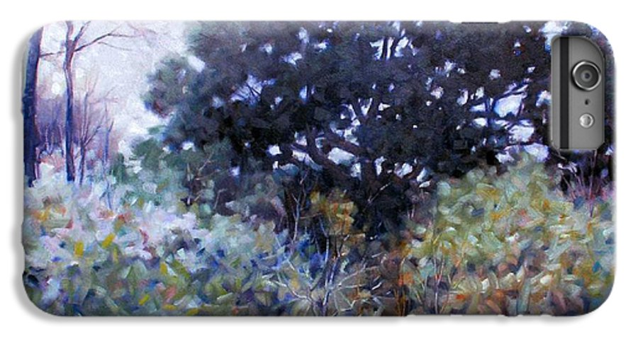 Landscape IPhone 6s Plus Case featuring the painting Empty Lot by Kevin Lawrence Leveque